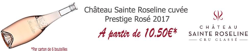 Chateau Sainte Roseline cuvée Prestige Rosé 2017
